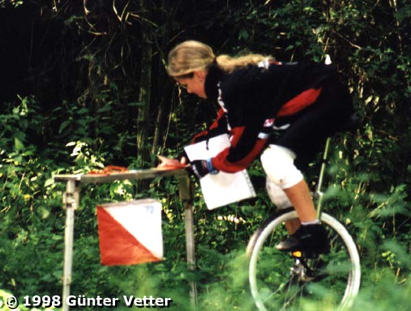 Monocycle orienteering